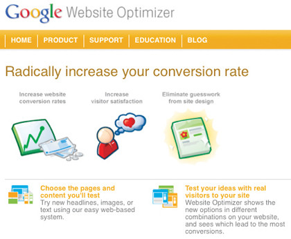 GoogleWebsiteOptimizer