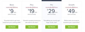 OptinMonster exit intent tool pricing