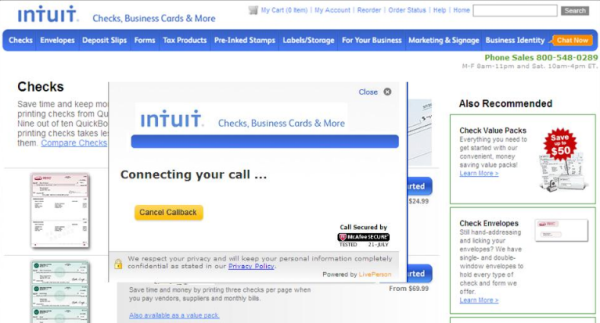 Proactive Chat Intuit 2