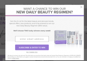 want a chance to win or new daily beauty regimen