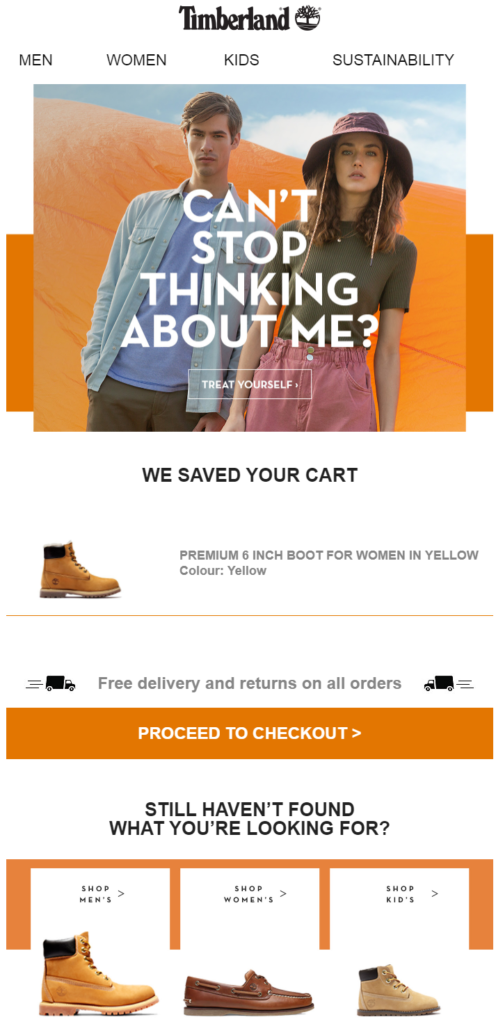 Fourth Abandoned Cart Email Examples to Win Customers