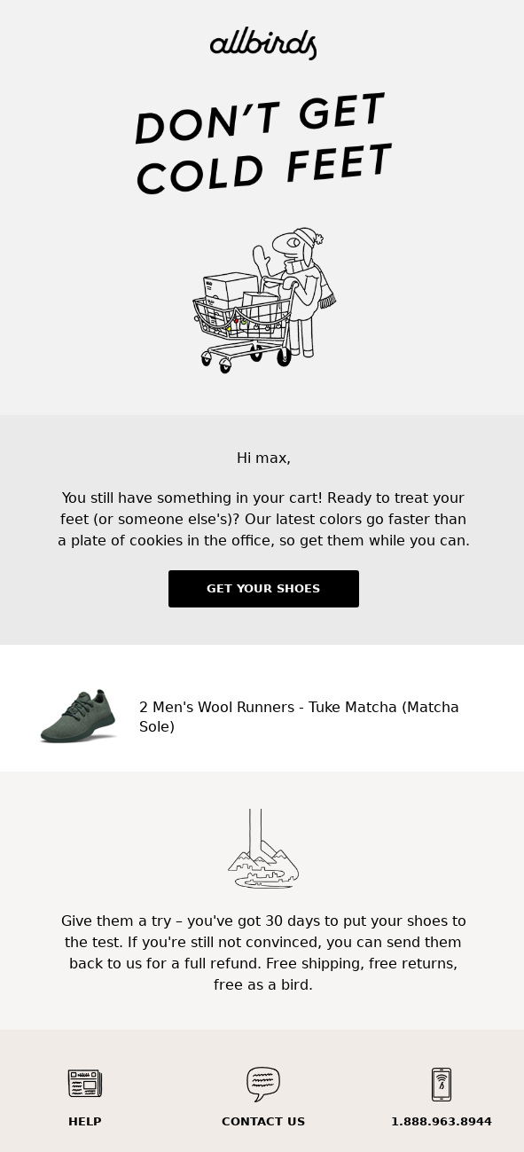 Seventh Abandoned Cart Email Examples to Win Customers