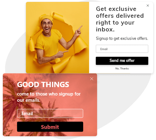 Get Newsletter Signups with Creative Overlay Copy