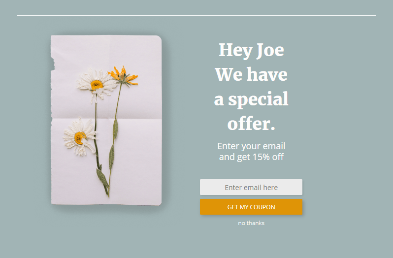 Present Personalized Offers