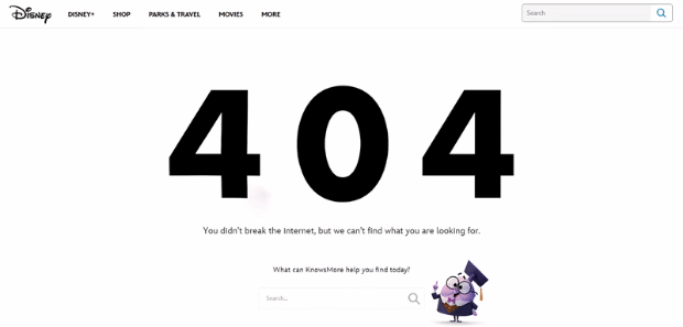 Create an Intuitive 404 Error Page